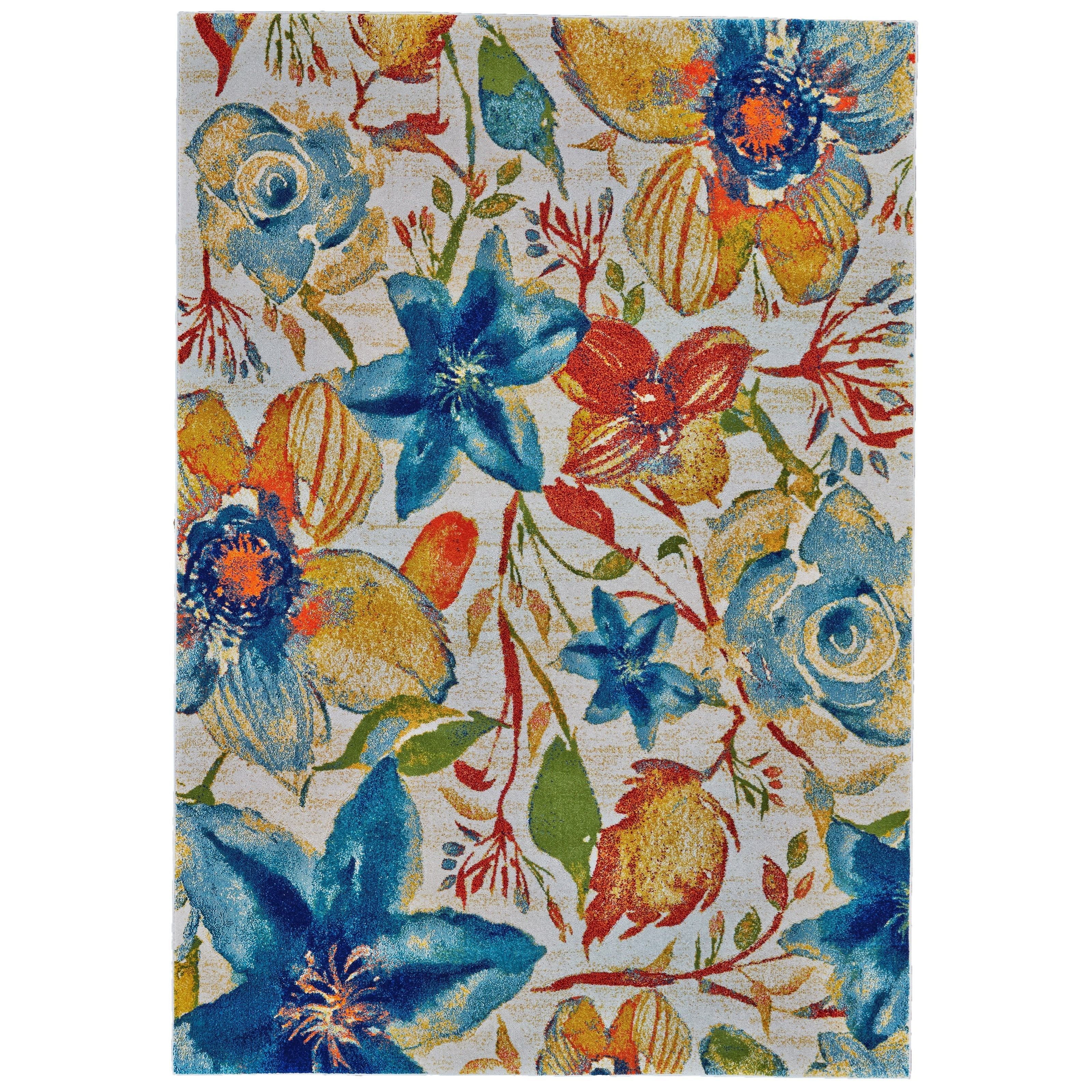 "Archean Meadow 2'-10"" X 7'-10"" Runner Rug by Feizy Rugs at Sprintz Furniture"