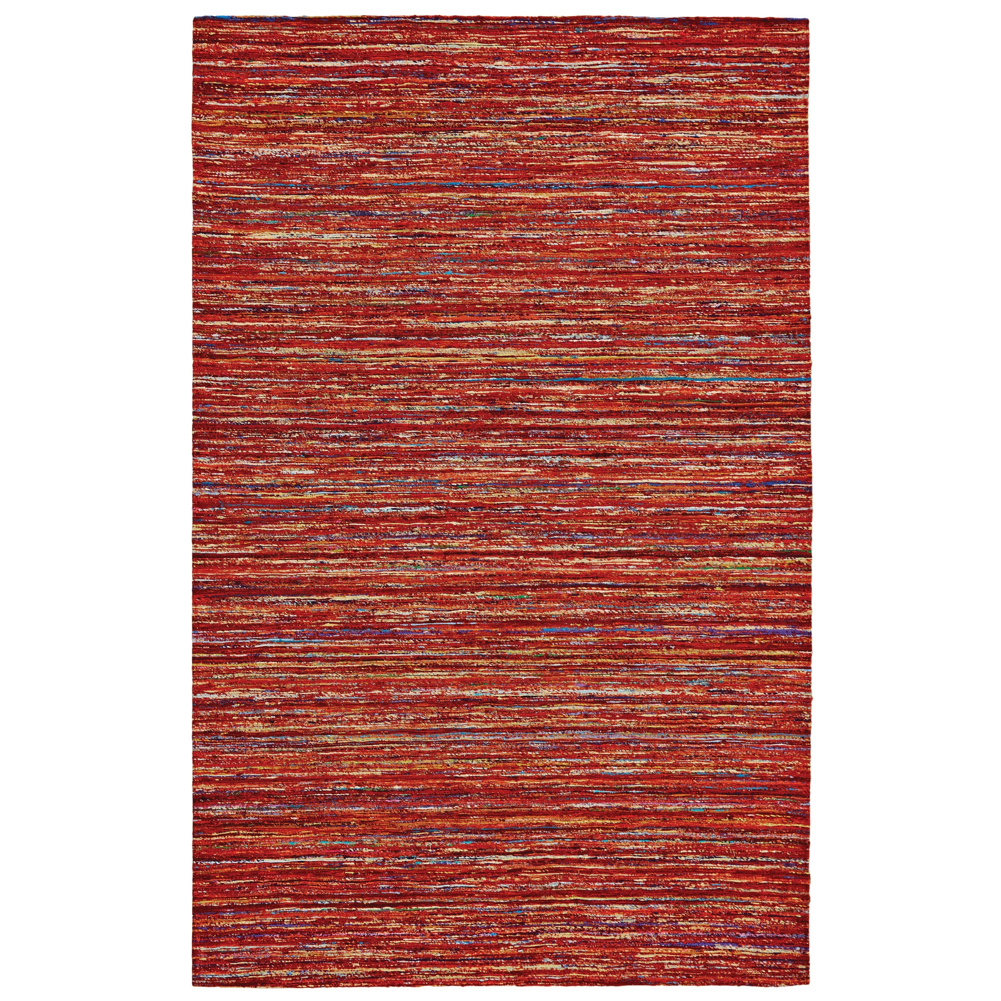 Red/Multi 5' x 8' Area Rug