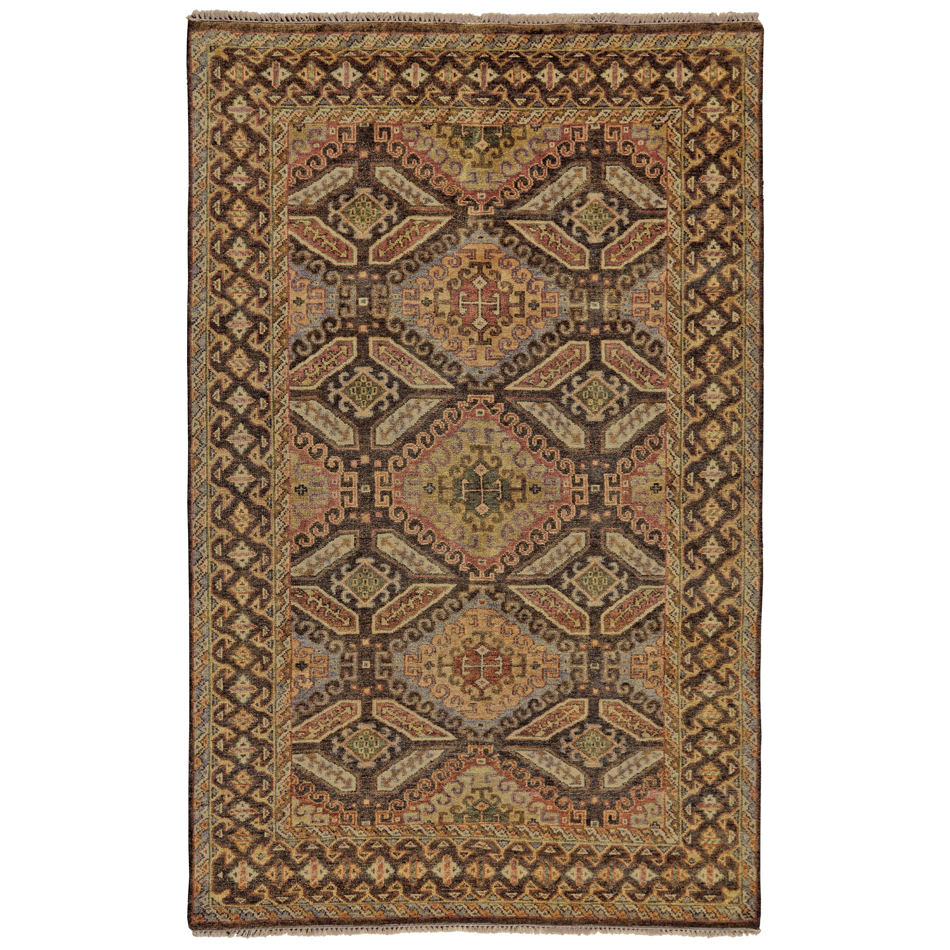 """Ashi Brown/Brown 7'-9"""" x 9'-9"""" Area Rug by Feizy Rugs at Sprintz Furniture"""