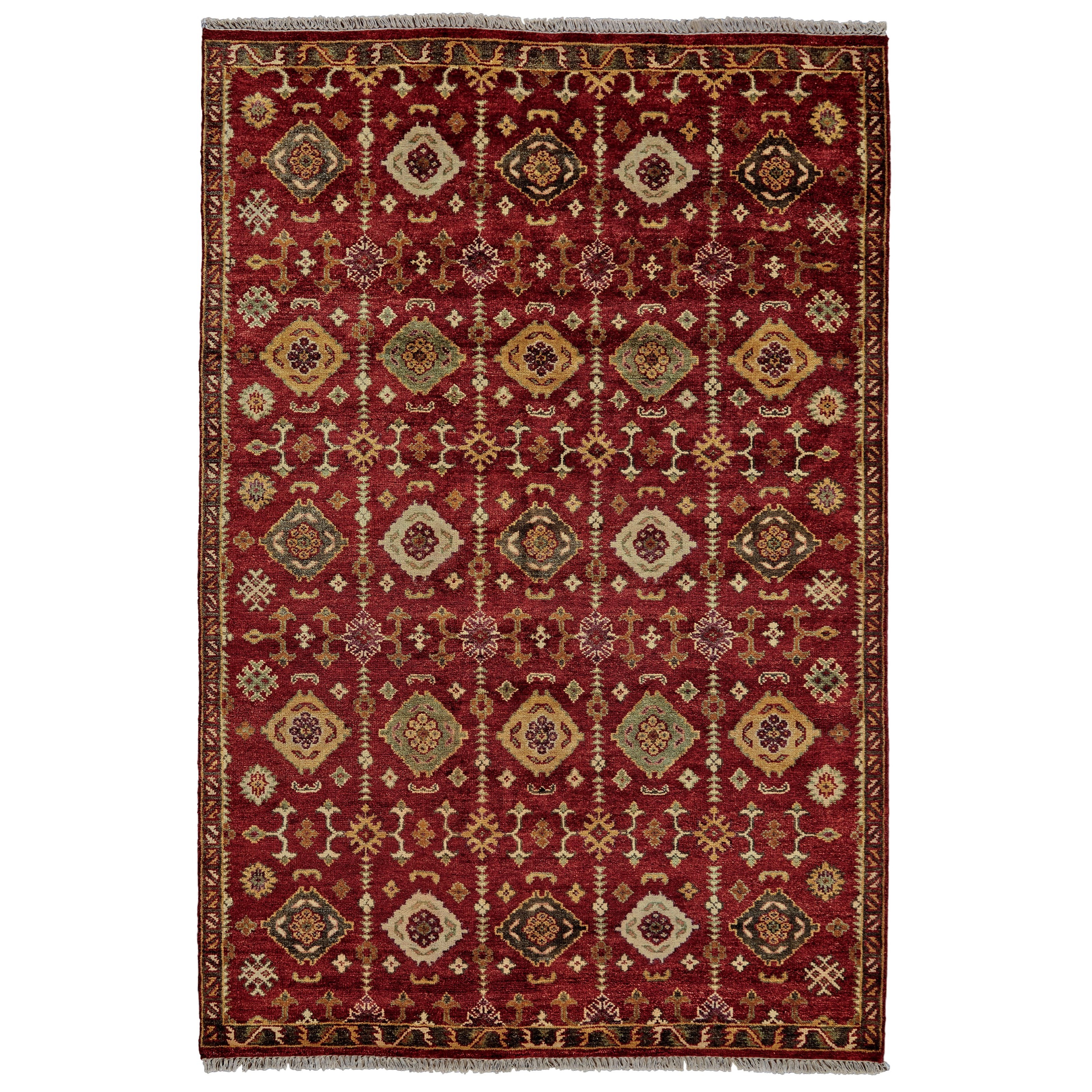 "Red 5'-6"" x 8'-6"" Area Rug"
