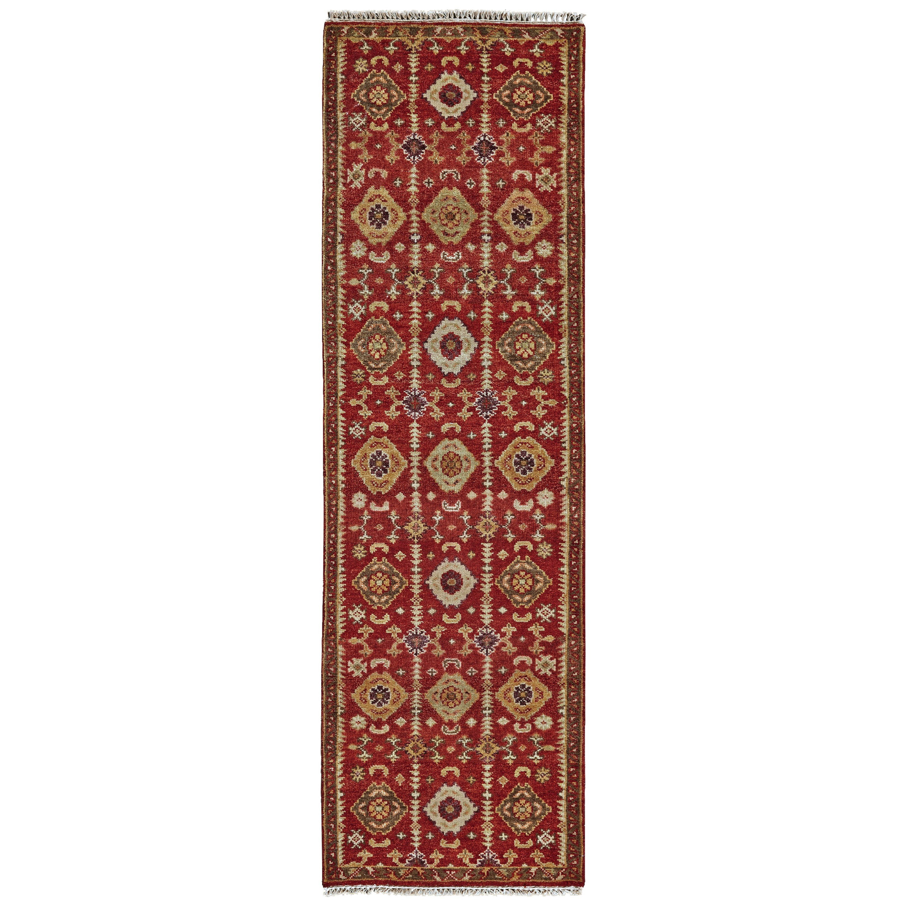 "Ashi Red 2'-6"" x 8' Runner Rug by Feizy Rugs at Sprintz Furniture"