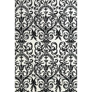 Ebony/White 2' x 3' Area Rug