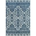 Feizy Rugs Carina Indigo/White 5' x 8' Area Rug - Item Number: 5984134FINDWHTE10