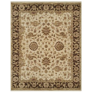 "Ivory/Brown 9'-6"" x 13'-6"" Area Rug"