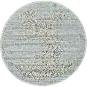 Ice/Birch 8' x 8' Round Area Rug