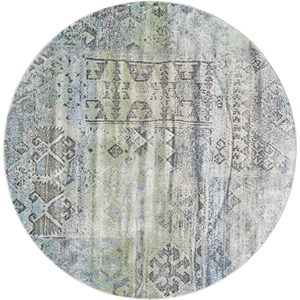 Mint/Taupe 8' x 8' Round Area Rug