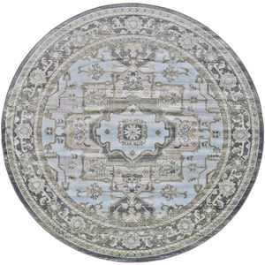 Taupe/Castle 8' x 8' Round Area Rug