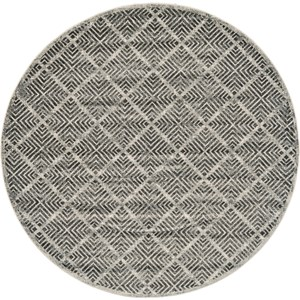 Castle/Taupe 8' x 8' Round Area Rug