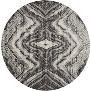 Birch/Sterling 8' x 8' Round Area Rug