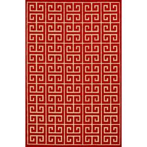 Tan/Red 5' X 7'-6