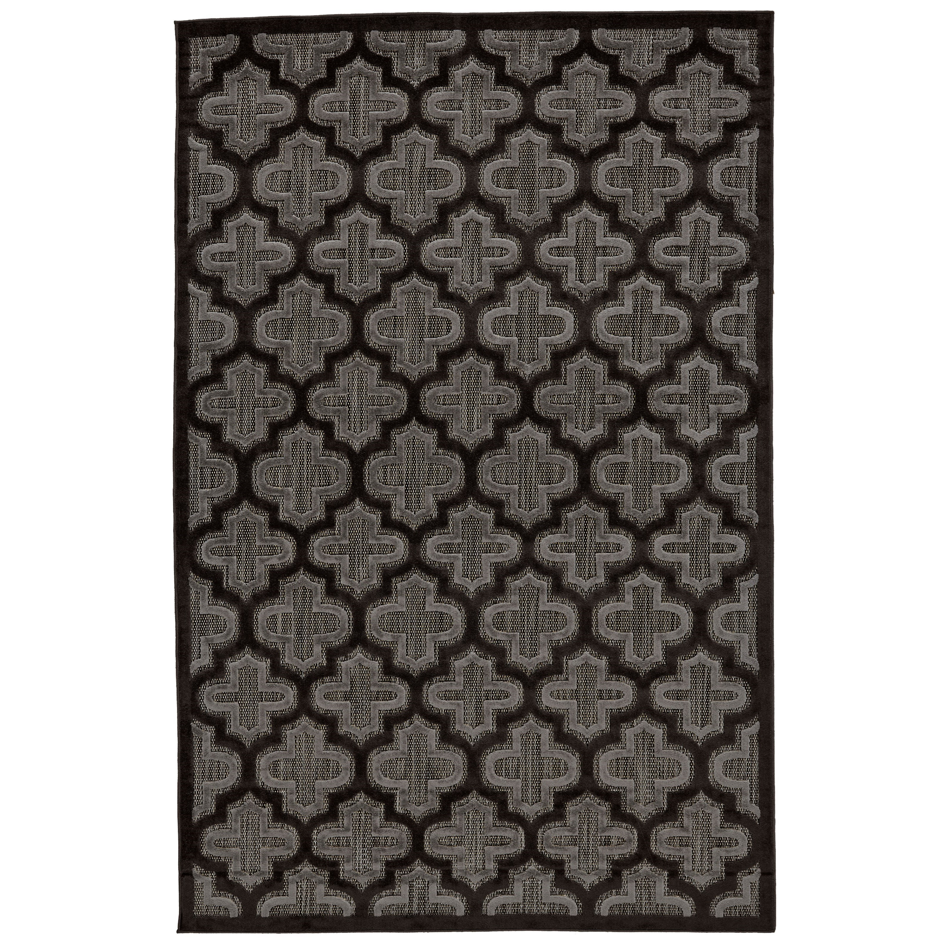 "Black/Charcoal 2'-1"" X 4' Area Rug"