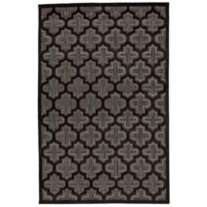 "Black/Charcoal 5' X 7'-6"" Area Rug"