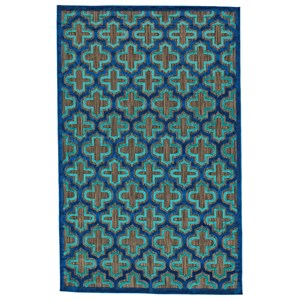 "Black/Navy 2'-1"" X 4' Area Rug"