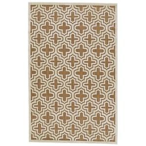 "Tan/Cotton 2'-1"" X 4' Area Rug"