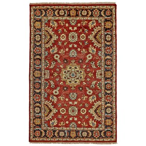 """Red/Black 5'-6"""" x 8'-6"""" Area Rug"""