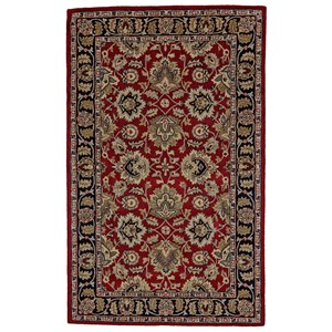 "Red/Black 3'-6"" x 5'-6"" Area Rug"