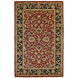 "Red/Black 9'-6"" x 13'-6"" Area Rug"