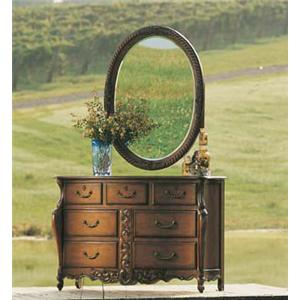 Fine Furniture Design RayLen Vineyards Double Dresser with Console Mirror