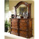 Fine Furniture Design Viniterra Double Dresser and Landscape Mirror - Item Number: 810-142+152