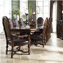 Fine Furniture Design Viniterra Rectangular Double Pedestal Dining Table - Shown as part of table set