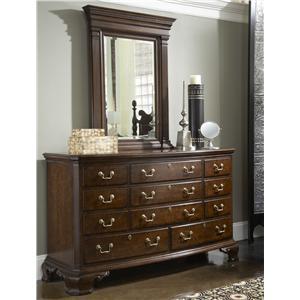 Fine Furniture Design American Cherry Dresser & Mirror Combo