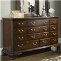Belfort Signature Belmont Newport Dresser & Quincy Vertical Mirror Combination - Eleven Drawers with a Felt-Lined Jewelry Tray