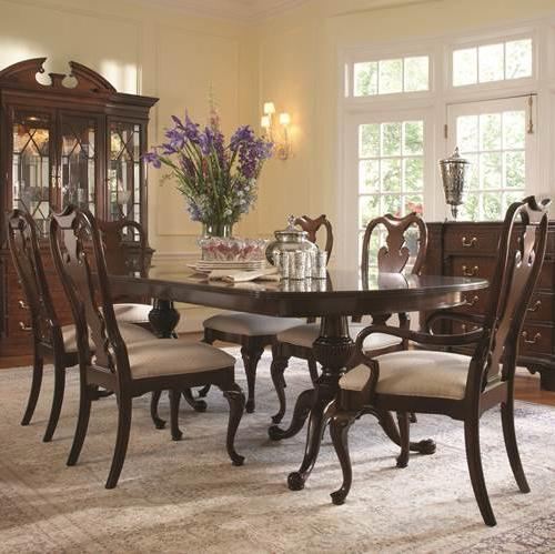 Belfort Signature Belmont 7 Piece Table and Chair Set - Item Number: 1020-818+819+2x821+6x820