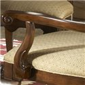 Fine Furniture Design American Cherry Alexandria Arm Chair - Added Comfort Comes From the Wooden Arm with Scroll End