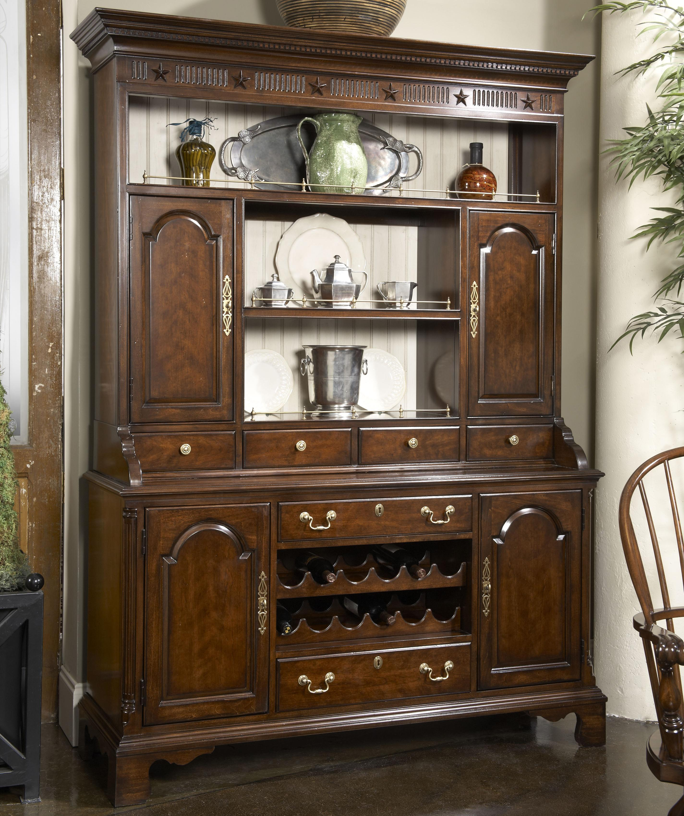 Fine Furniture Design American Cherry Cambridge Welch Cupboard With Reversable Back Panel