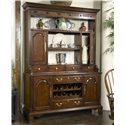 Fine Furniture Design American Cherry Cambridge Welch Cupboard with Reversable Back Panel - Shown with Door Open