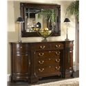 Fine Furniture Design American Cherry Kennett Square Credenza with Black Granite Top Insert - Shown with Goddard Mirror