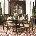 Fine Furniture Design American Cherry Charleston Display Cabinet with Mirrored Back Panel - Shown with Marlborough Dining Table