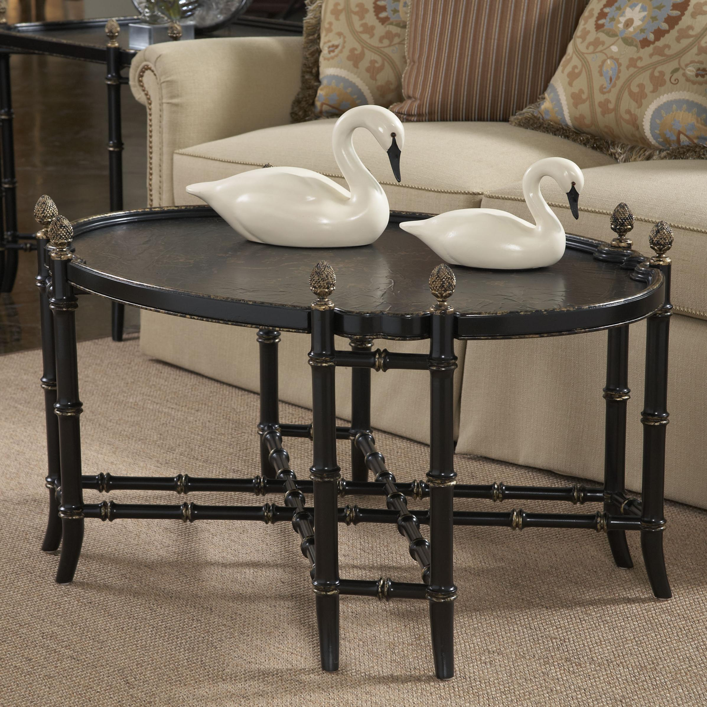 Belfort Signature Belmont New London Chinoiserie Cocktail Table - Item Number: 1020-932