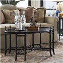 Belfort Signature Belmont New London Chinoiserie Cocktail Table with Black and Gold Chinoiserie Painted Top - Alternate Side View of Beautifully Detailed Table Legs