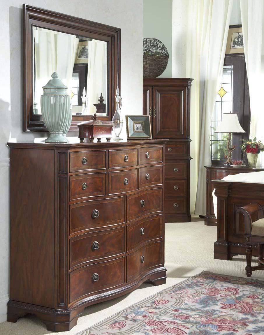 Belfort Signature Westview Double Dresser with Landscape Mirror - Item Number: 920-144+150