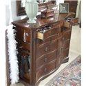 Belfort Signature Westview Classic Double Dresser with Landscape Mirror - Double Dresser Shown with Open Hidden Panel Door and Jewelry Drawers