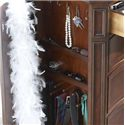 Belfort Signature Westview Classic Double Dresser with Landscape Mirror - Compartment Behind Hidden Panel Door Contains Necklace Hooks and Necktie Pegs