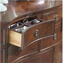 Belfort Signature Westview Classic Double Dresser with Landscape Mirror - Drawer with Tray for Sorting Jewelry