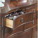 Belfort Signature Westview Twelve Drawer Double Dresser with Drop Panel Door - Drawer with Jewelry Tray