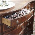 Belfort Signature Westview Classic Triple Dresser with Bowed Front - Jewelry Tray Insert