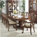 Belfort Signature Westview 11 Piece Dining Set with Double Pedestal Table and Ball & Claw Side and Arm Chairs