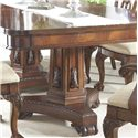 Belfort Signature Westview 11 Piece Dining Set with Double Pedestal Table and Ball & Claw Side and Arm Chairs - Decorative Pedestal with Applied Wood Carvings