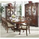 Belfort Signature Westview 11 Piece Dining Set with Double Pedestal Table and Ball & Claw Side and Arm Chairs - Dining Set Shown in Room Setting with Display Cabinet and China Buffet & Hutch