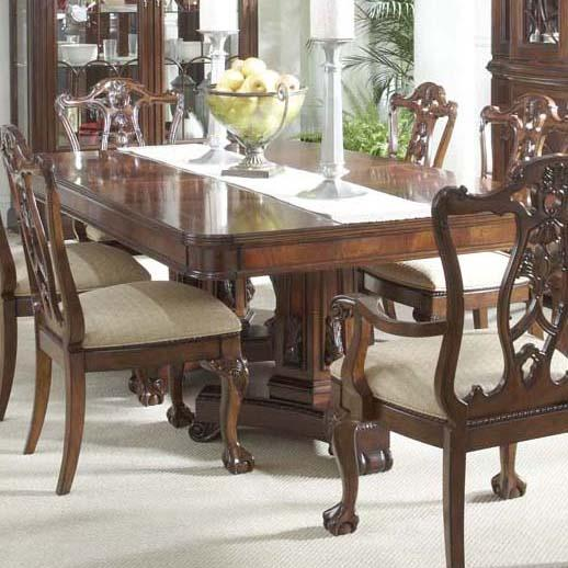 Double Pedistal Dining Table