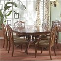 Belfort Signature Westview Decorative Splat Back Dining Room Arm Chair - Shown in Room Setting with Small Dining Table and Splat Back Side Chairs