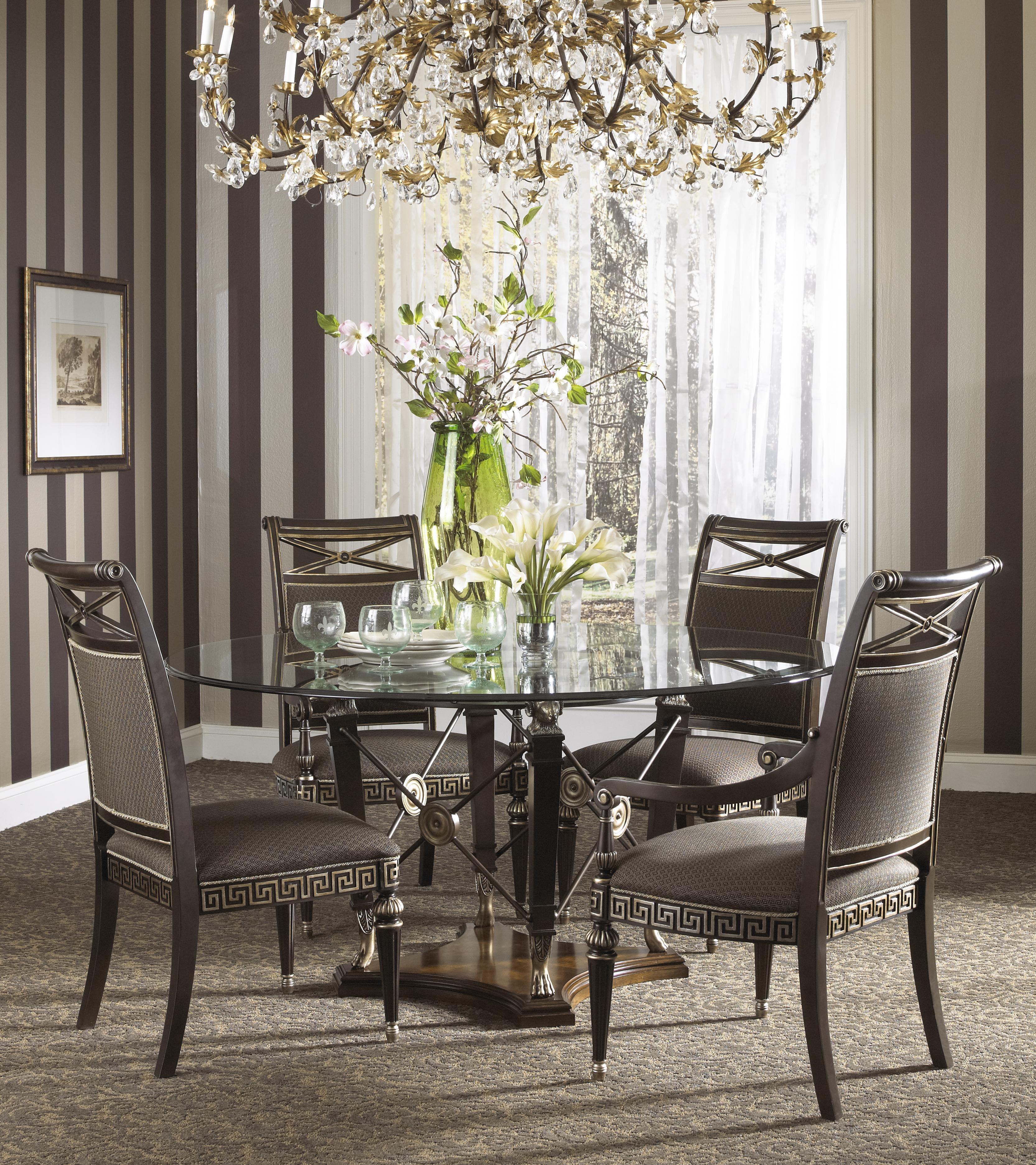 Fine Furniture Design Belvedere Formal Grecian Style Glass