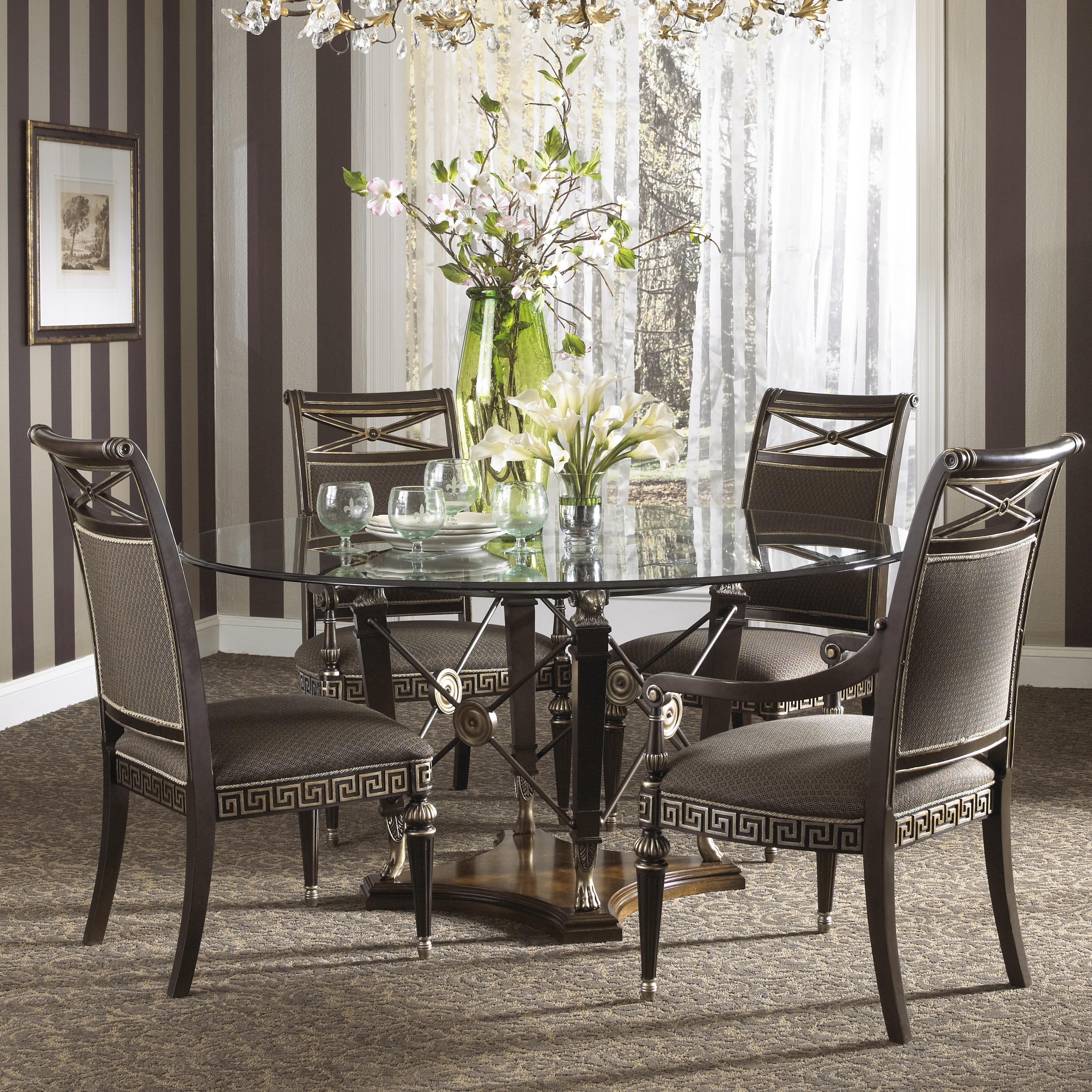 Round Formal Dining Table: Fine Furniture Design Belvedere Formal Grecian Style Round