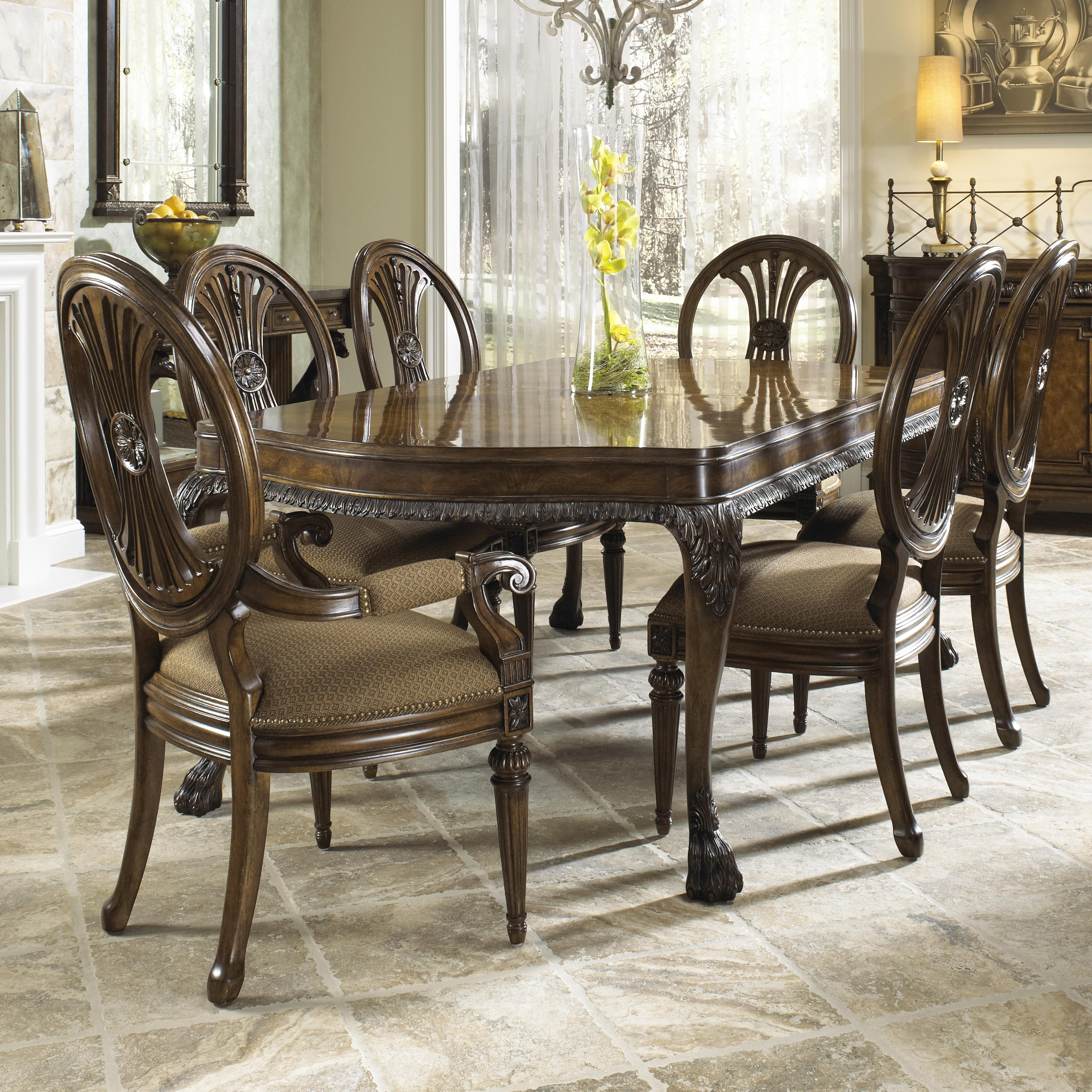 Orleans Ii White Wash Traditional Formal Dining Room: Fine Furniture Design Belvedere Traditional Seven Piece