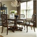 Fine Furniture Design Biltmore Balustrade Dining Table Set - Item Number: 1344-811+810+2X820+2X821