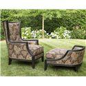 Fine Furniture Design Biltmore Comtesse Chair and Ottoman Set - Item Number: 3905-03DC+04DC